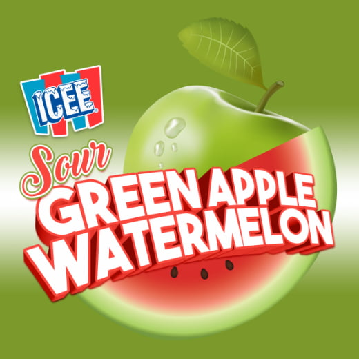 ICEE Flavor Sour Green Apple Watermelon